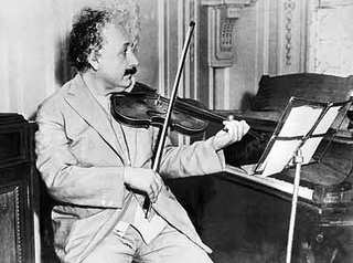 Albert Einstein playing the violin
