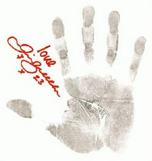 David Beckham's right hand print