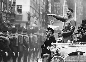 Hand gestures – Hitler showing authority with the palm down salute