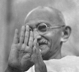Mahatma Gandhi, civil right activist.